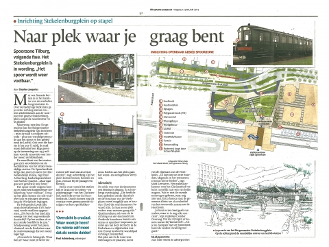 Ontwerp Burgemeester Stekelenburgplein Tilburg in Brabants Dagblad!
